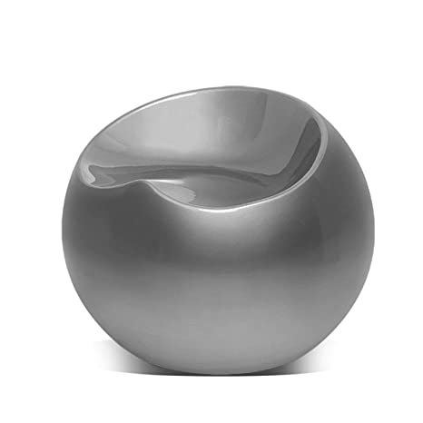 Phenomenal Magshion Modern Living Room Patio Night Club Bar Cocktail Guest Backless Ball Round Lounge Fiberglass Stool Pouf Chairs Silver Forskolin Free Trial Chair Design Images Forskolin Free Trialorg