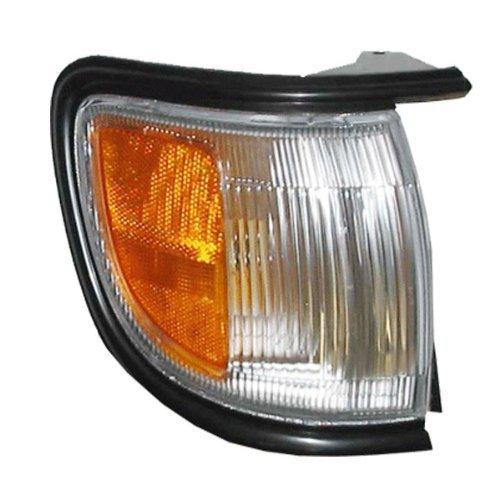 (1996-1999 Nissan Pathfinder (Built Before 11/98 Production Date) Corner Park Light Turn Signal Marker with BLACK Trim Right Passenger Side (1996 96 1997 97 1998 98 1999 99))