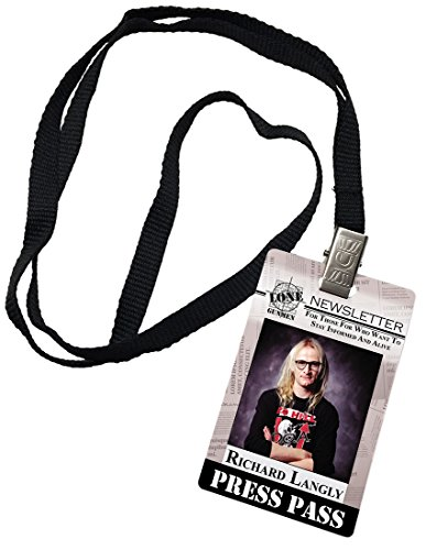 Richard Langly Press Pass Lone Gunmen X-Files Novelty, used for sale  Delivered anywhere in USA