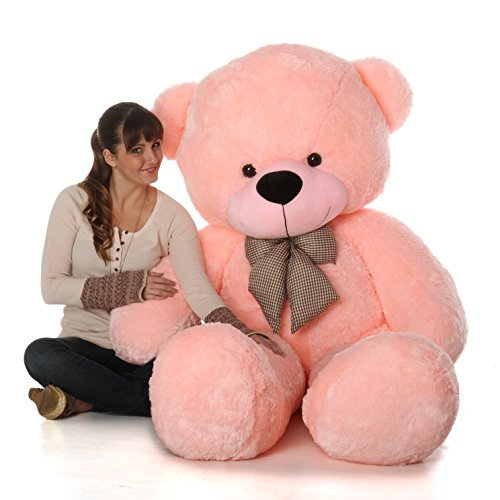 6 Foot Life Size Teddy Bear Soft Pink Color Sweet Cuddly Teddybear Lady Cuddles