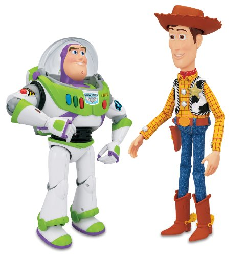 Toy Story Interactive Buzz and Woody Figure Playset (Disney Toy Story Interactive Buzz Lightyear And Woody)