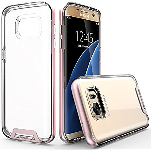 Artech 21 Premium Clear Transparent Case for Samsung Galaxy S7 Edge - Rose Gold Sales