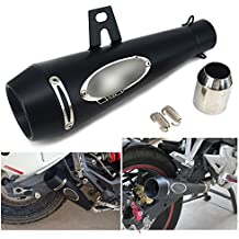 "JFG RACING Motorcycle 1.5-2"" Inlet GP Series Slip-On Exhaust Universal Muffler-Black"