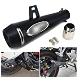 JFG RACING Slip on Exhaust 1.5-2 Inlet Stainelss steel Muffler With Moveable DB Killer For Dirt Bike Street Bike Scooter ATV Racing