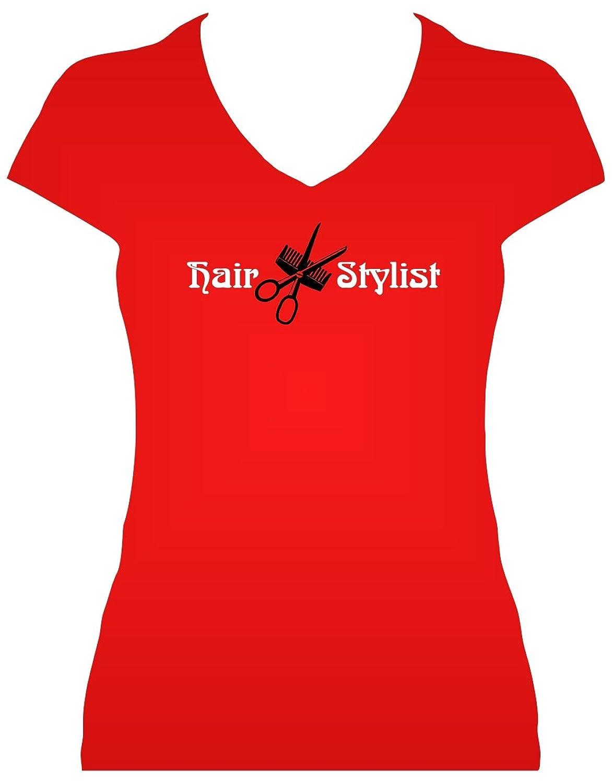 BlingelingShirts Fun Shirt Sprüche Damen Schrifzug Hair Stylist mit Kamm  und Schere Friseur: Amazon.de: Bekleidung