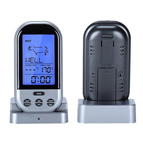 MAIKEHIGH Wireless Remote Digital-Barbecue Thermometer, Monitor Fleisch Temperaturen für BBQ Kochen, Raucher, Grill, Ofen, Fleisch