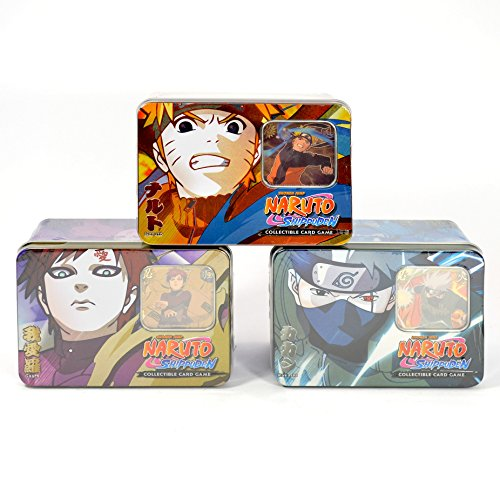 Naruto Guardian of the Village TCG Collector Tin Set - 3 Tins - With Rare ()