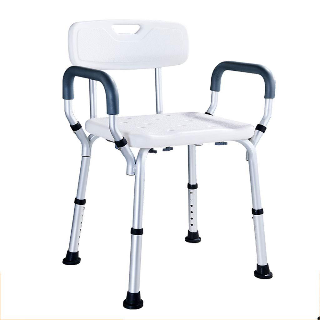割引購入 背もたれと腕の付いた調節可能なバスチェア、軽量でポータブルなバスシート B07G744XG3、障害者と高齢者のための大きなベース B07G744XG3, an-no:073b519f --- conffianca.com