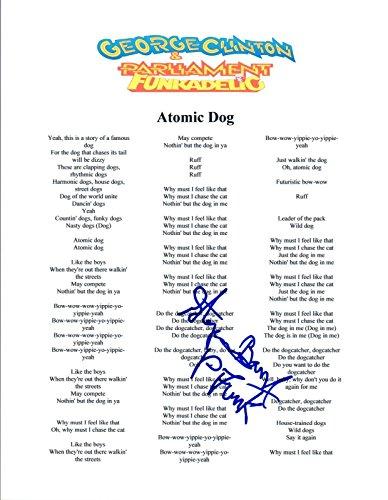 (Steve Boyd Signed Autograph George Clinton Atommic Dog P-Funk Lyric Sheet COA)