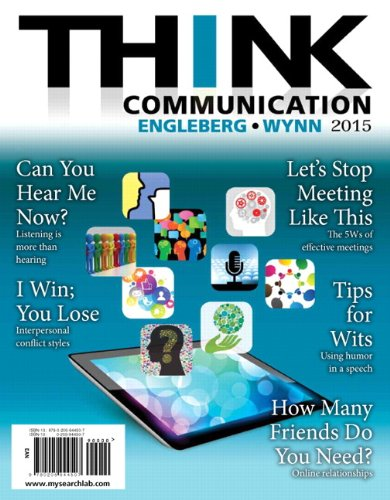 THINK Communication (3rd Edition) by Pearson