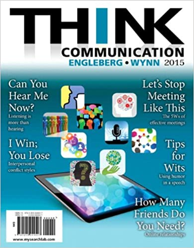 Amazon com: THINK Communication (3rd Edition) (9780205944507
