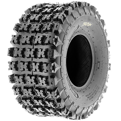 SunF A027 XC ATV UTV Knobby Sport Tire 22x11-9, 6 PR, Tubeless (Tires Atv 4 Wheeler)
