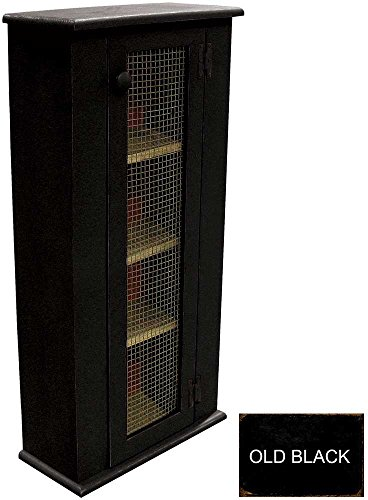 Sawdust City Tall Jelly Cabinet (Old Black)