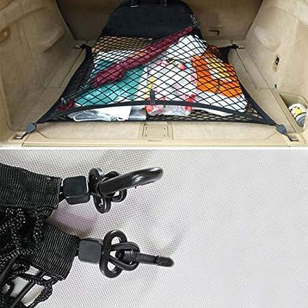 BEESCLOVER Organizador de Carga para Maletero Trasero de Coche con Malla el/ástica para Volvo XC60 XC90
