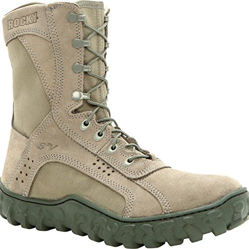 Rocky Men's S2V Steel Toe Work Boot,Sage,10 W ()