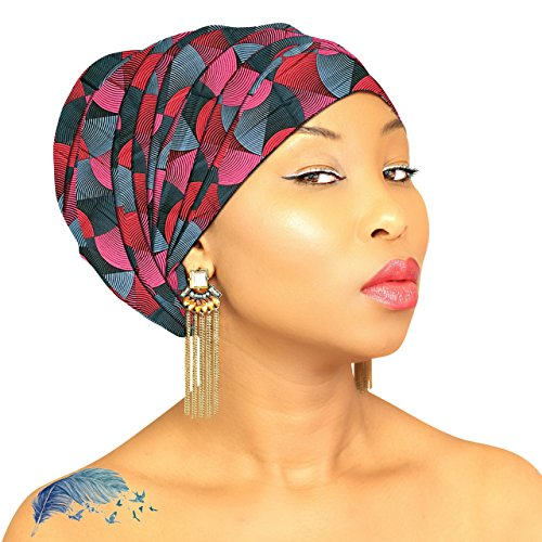 LUXURY HEAD WRAP Hijab African HeadWrap African Fabric Scarf Chic Collection Light Weight African Head Wrap Turban ROYAL HEAD WRAPS - Luxury Wrap Collection
