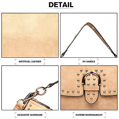Diseño Tamaño Con Messenger Bag Hobo Mano Hombro De Bolso Gran qxTtfX