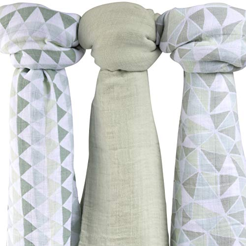 Swaddle Blanket Sage - Bamboo Muslin Swaddle Blankets Ultra Soft & Silky Swaddles 47