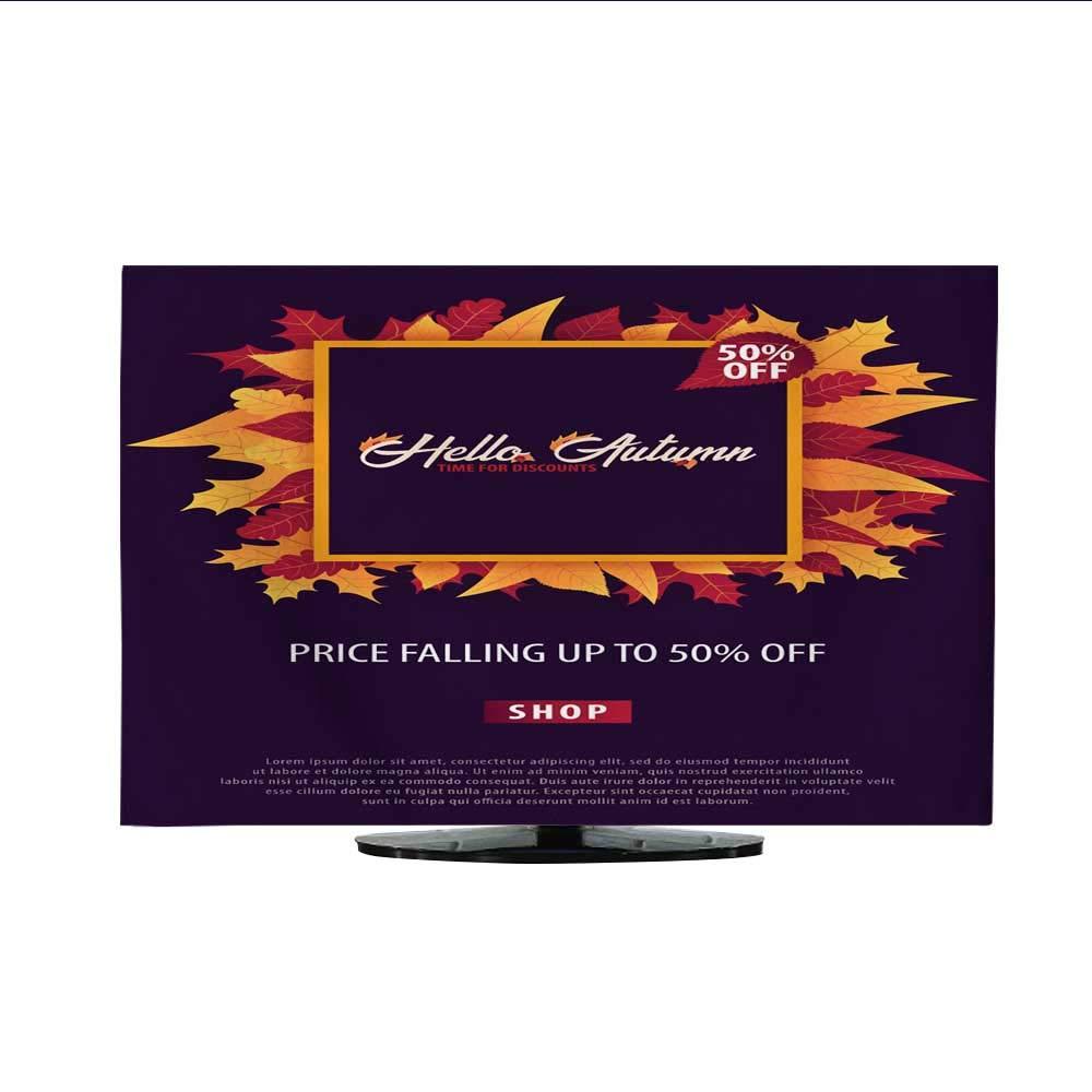 室内用テレビカバー 秋の背景 葉付き ショッピングまたはプロモーションポスターとフレームリーフレットまたはウェブバナー ベクターイラストレーションテンプレート 111230インチ/32インチ 50