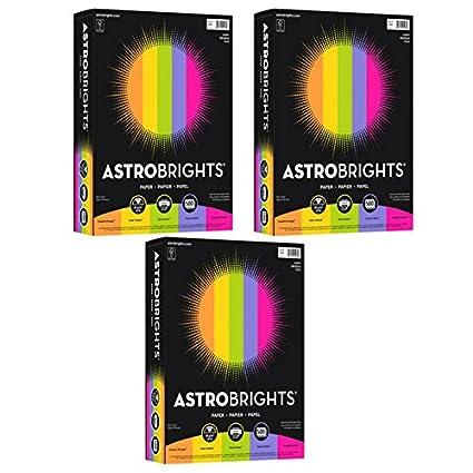Astrobrights Inkjet Laser Print Colored Paper Cosmic Orange Solar Yellow Terra Green
