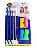 RosyLife Pet Dog Soft Toothbrush Food grade material pet toothbrush Dental Hygiene Brushes for Small to Large Dogs (4 Neutral Size + 4 Head Toothbrush)