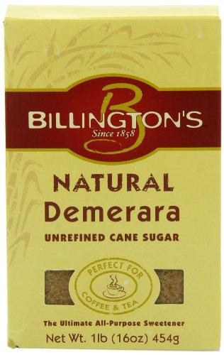 (Billington's Natural Demerara Unrefined Cane Sugar, 1 LB (Pack of 10) )