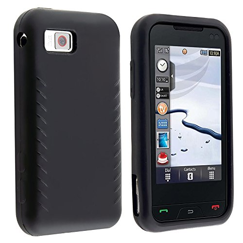 For Samsung Eternity A867 Premium Black Smooth Silicone Protective Skin Case (A867 Eternity Silicone)