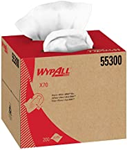 WypAll X70 Extended Use Reusable Cloths (55300), Brag Box, White, 1 Box with 200 Sheets