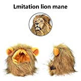 Lion Mane for cat Costume Pet Adjustable Washable Comfortable Fancy Lion Hair Clothes Dress for Halloween Christmas Easter Festival Party Activity