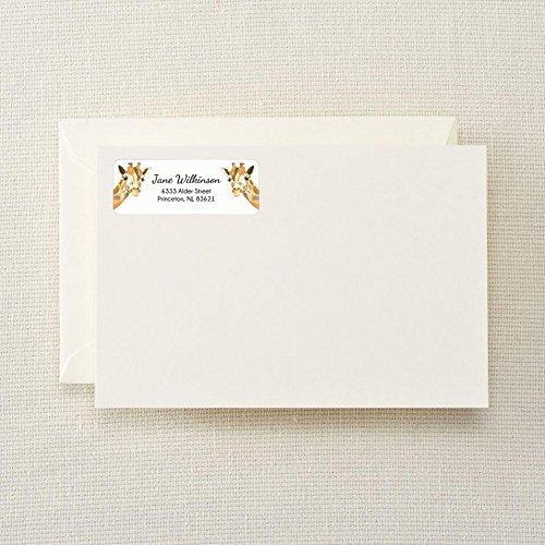 Personalized Giraffe Return Address Label - Made to Order - Anniversary Wedding Gift