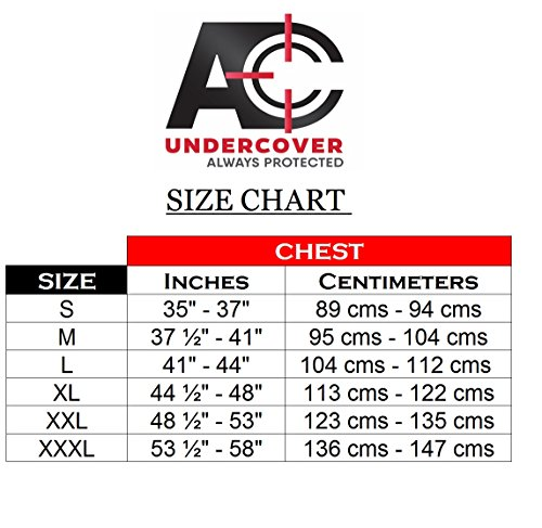 AC Undercover Concealed Carry Crew Neck Tshirt/CCW Tactical Clothing/Concealed Clothing REF. 511 (Black) (Black, XX-Large) by AC Undercover (Image #3)