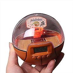 Lexvss Mini Basketball Games, Mini Basketball Alarm Clock, New Fingertips Basketball Decompression Handheld Shooting Games With The Scoreboard
