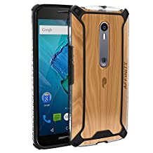 Poetic Affinity Slim Fit Dual Material Protective Bumper Case for Moto X Pure Edition Black
