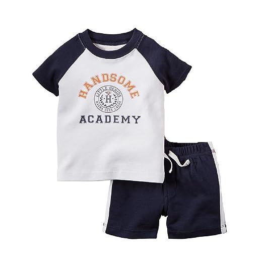 5f00eeae8dd41 Amazon.com: Hooyi Baby Boy Clothing Set Printing Short T-Shirt ...