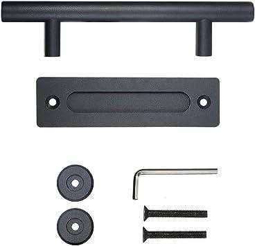 Pomo para puerta corredera de 30 cm para alacenas, tirador para puerta resistente Pull & Flush, juego de herrajes, manilla redonda para empotrar, tirador para puerta corredera para cucarachas, tirador de: Amazon.es: