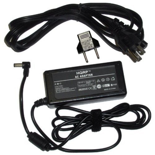HQRP AC Adapter for Westinghouse LD-2655VX LD-2657DF LD-2680 LD-2685VX LED LCD HDTV TV Power Supply Cord Westing house + Euro Plug Adapter ()