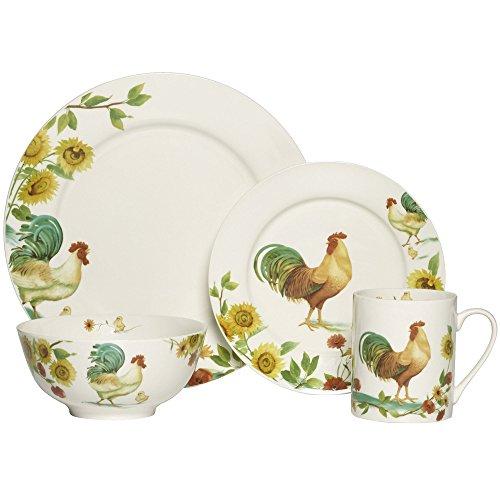 Pfaltzgraff Rooster - Pfaltzgraff Rooster Meadow 16 Piece Dinnerware Set
