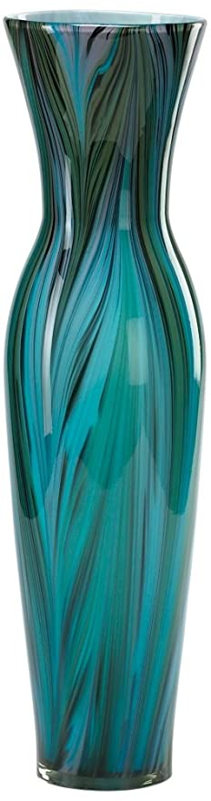 Amazon Cyan Design 02921 Tall Peacock Feather Vase Home Kitchen