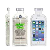 L-luck Luxury Fashion Vodka Bottle Alcohol TPU Crystal Transparent Rubber Gel Case Cover for Apple Iphone 6 Plus 5s(Green)