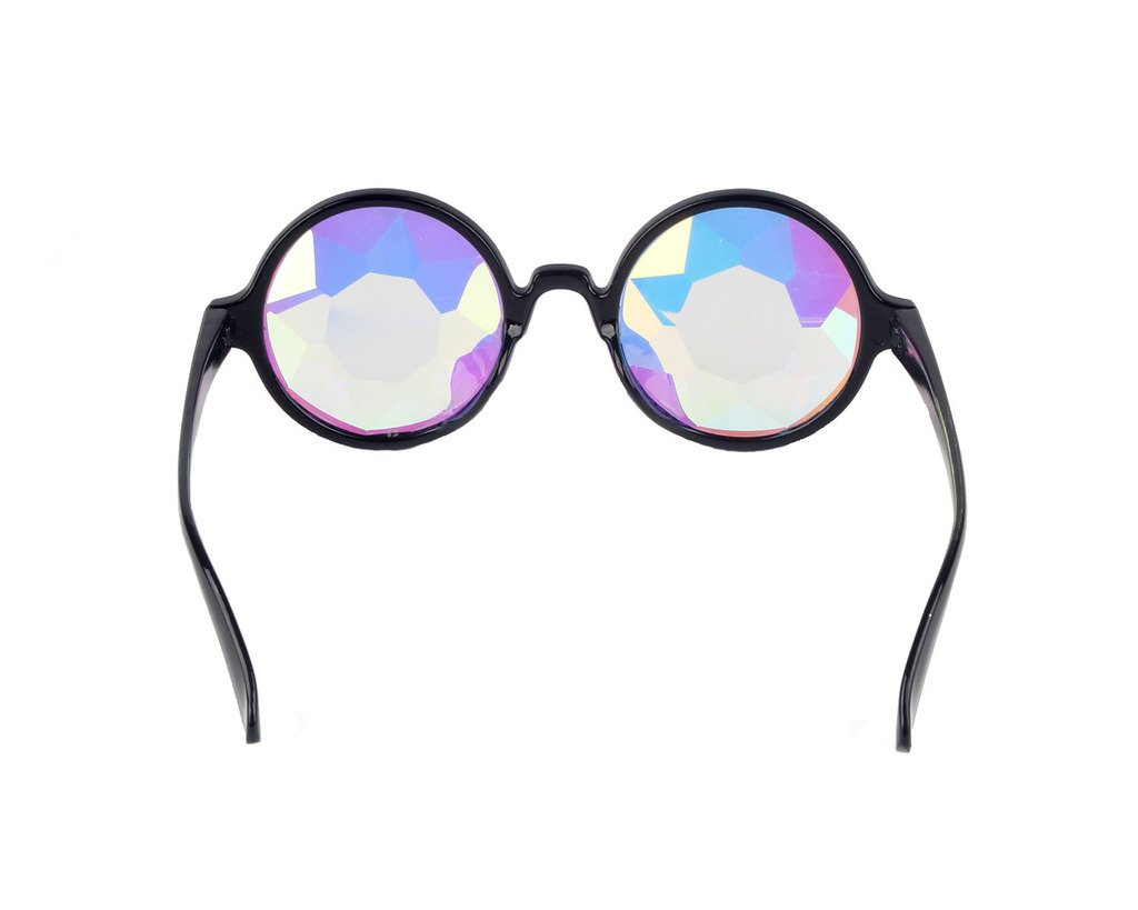 Amazon Prime Deals,Black/Pink/White Black Kaleidoscope Glasses- Rainbow Rave Prism Diffraction by Careonline (Image #4)