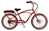 "Pedego Comfort Cruiser 26"" Classic Red with White Wall Tires 36V 15Ah"