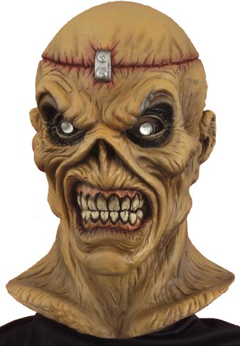 Forum Novelties Men's Scary Metal Head Mask, Multi Colored, One -