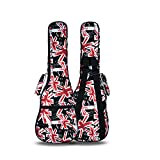 HOT SEAL 10MM Sponge Padding Waterproof Durable Colorful Conventional ukulele Case Bag with Storage ... (21 in, UK-Flag)