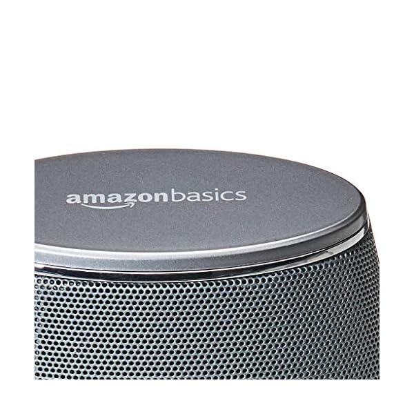 AmazonBasics Enceintes pour ordinateur alimentées par USB avec son dynamique | Argenté, lot de 4 6