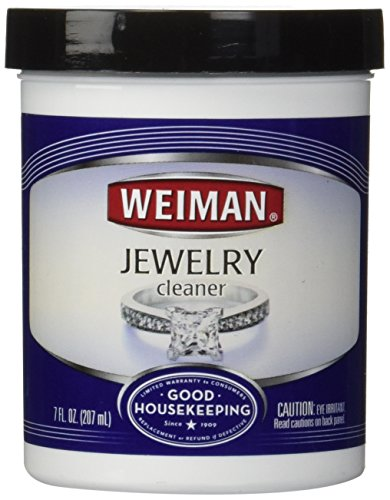Weiman Jewelry Cleaner Liquid - Restores Shine and Brilliance to Gold, Diamond, Platinum Jewelry & Precious Stones - 7 fl. oz.