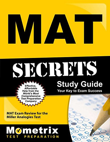 Pdf Test Preparation MAT Secrets Study Guide: MAT Exam Review for the Miller Analogies Test