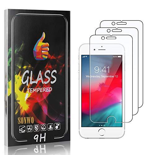 SONWO Schutzfolie Kompatibel für iPhone SE 2020 / iPhone SE 2nd Generation, Anti-Kratzen Displayschutzfolie für iPhone SE 2020 / iPhone SE 2nd Generation, 3 Stück