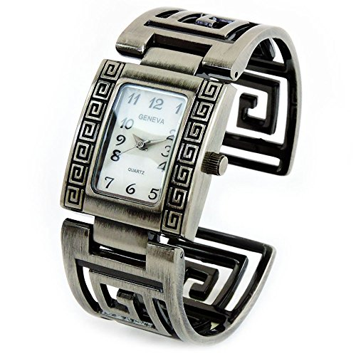Pewter Brushed Finish Designer Style Fashion Women's Bangle Cuff ()