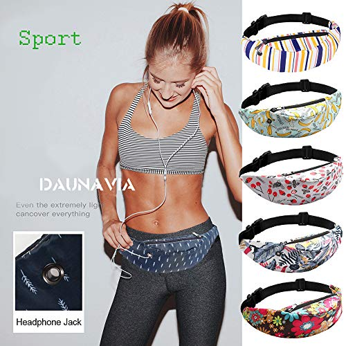 Simayixx Waist Packs with Cell Phone Pouch Fanny Pack Slim Soft Polyester Water Resistant Sport Waist Bag for Man Women by Simayixx (Image #2)