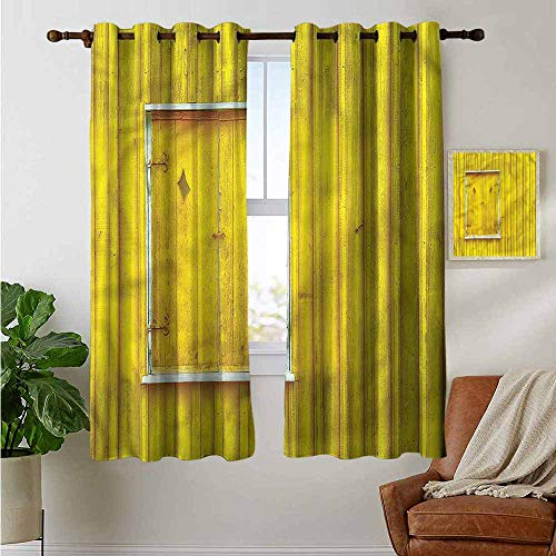 Panel Double Wide Vinyl Shutters - petpany Blackout Curtains 2 Panels Shutters,Traditional Architecure,for Room Darkening Panels for Living Room, Bedroom 42